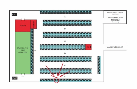 MoCCAfest Floor Plan - Matt Miner @ table F191 - CLICK TO ENLARGE