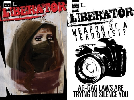 (L) Rod Reis painted cover (R) Ag-gag awareness cover
