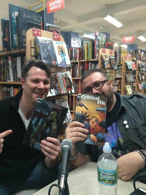 Matt Miner and Sean Von Gorman at Midtown Comics